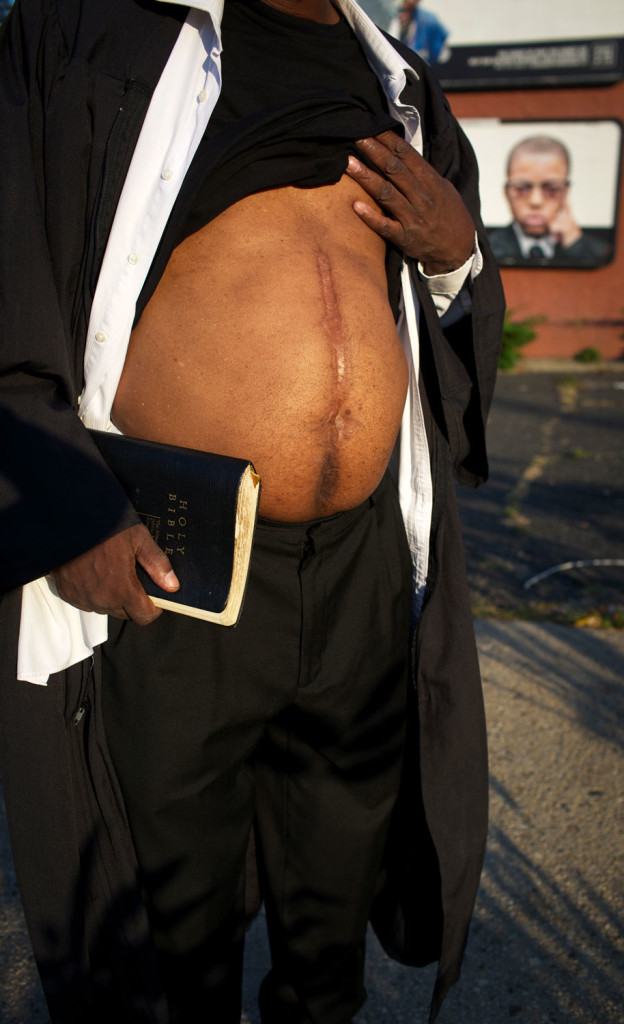 Rev. Ellis- Minister & Newark community activist, shot during an armed robbery at a gas station in Atlanta, Ga. 1997