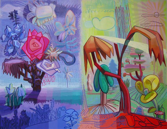 """Field Days, 2014, 60""""x78"""", acrylic paint on canvas"""