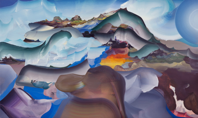 "Elliott Green, Furnace Mountain, 2013, Oil on linen, 36"" x 60"""