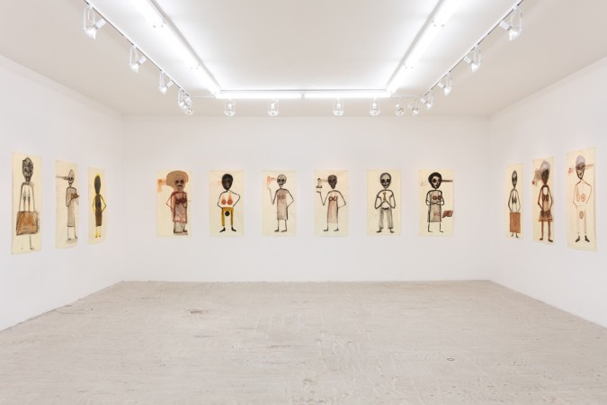 "Mira Schor, ""Power"" Figures, Installation, Death Is A Conceptual Artist, Lyles & King Gallery, New York City, March 18-April 24, 2016"