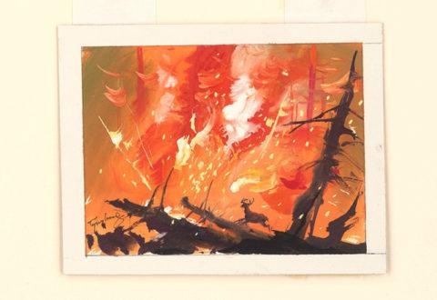 Tyrus Wong, Illustration for Bambi