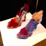 "Donna Huanca, Hooker Shoes (2015), Mixed media, 8"" x 9"" x 4"" each"
