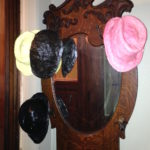 Matt Freedman, Hats (2012), Plaster and sign paint on existing hat rack, Dimensions variable, Not for sale